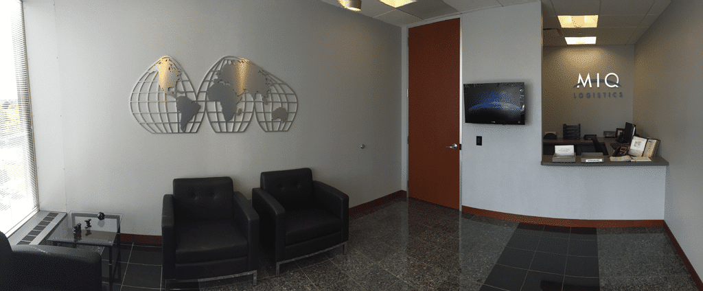 MIQ International Lobby In Overland Park Kansas