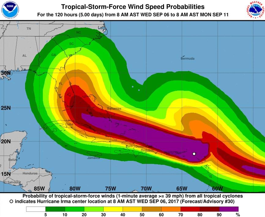 Tropical Storm Path Diagram