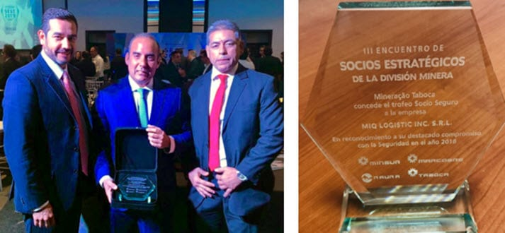 Juan Alonos and Award Side by Side for MIQcom